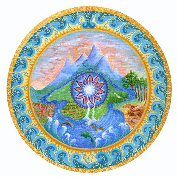 Nature mandala mandalas pinterest - Mandala nature ...