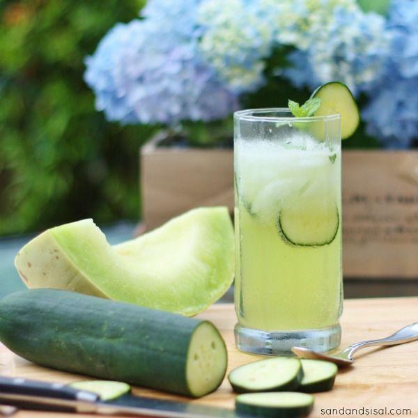 Cucumber Melon Gin Spritzer | Recipe