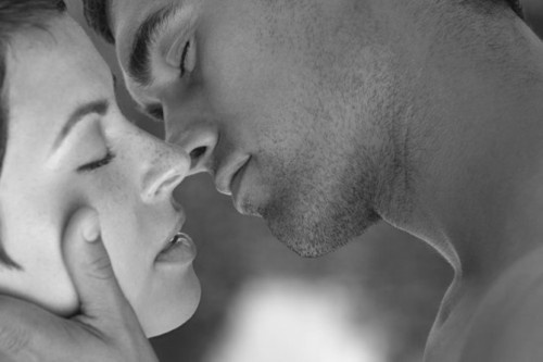the anticipation of her kiss