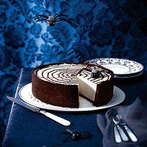 No-Bake Spiderweb Cheesecake | Recipe