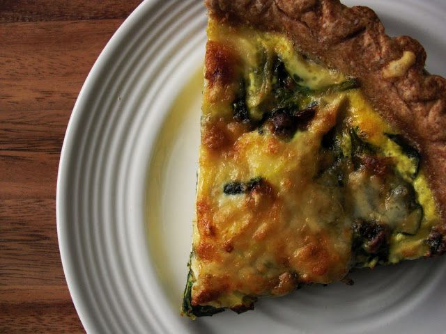 Nourish The Roots: Spinach and Gruyere Quiche