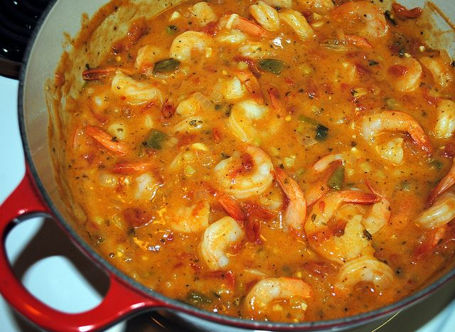 Shrimp Etouffee... I don't really like shrimp but I had this made for ...