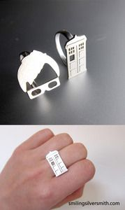 TARDIS and 10th Doctor rings