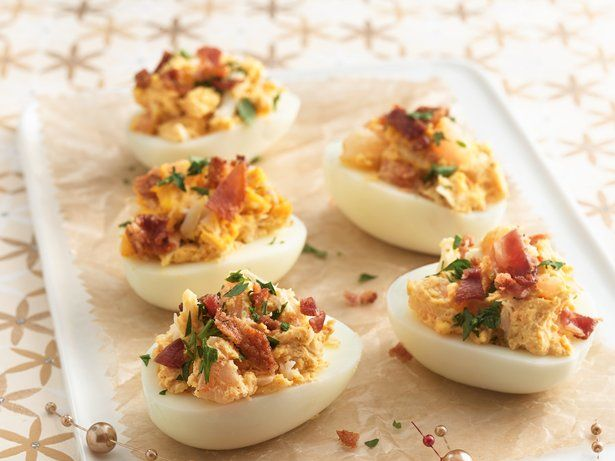 Deviled eggs taste like a bit of heaven with the addition of shrimp ...