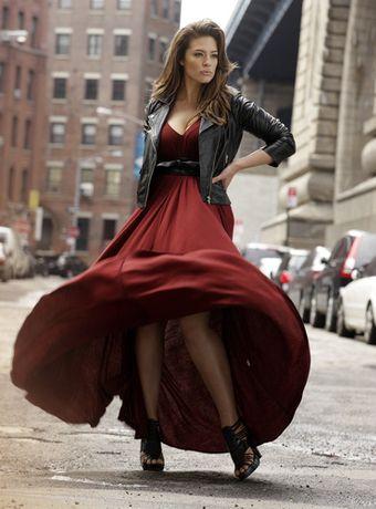 Leather & rust - Ashley Graham