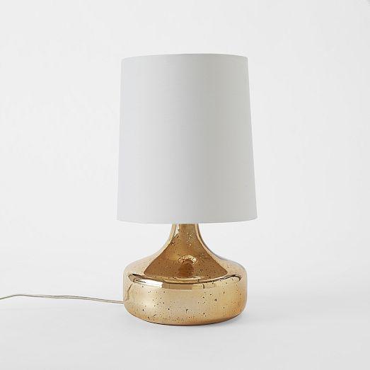 rose gold mercury glass table lamp. Black Bedroom Furniture Sets. Home Design Ideas