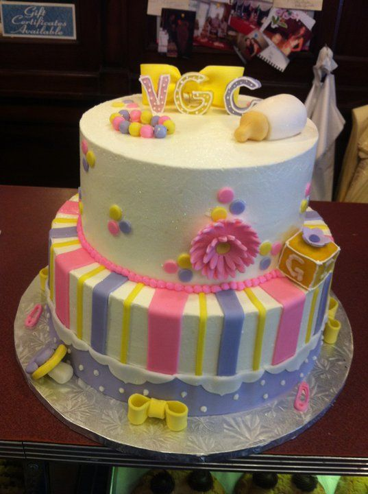 Baby Girl ! Baby Shower Cakes by Conti's Bronx NY