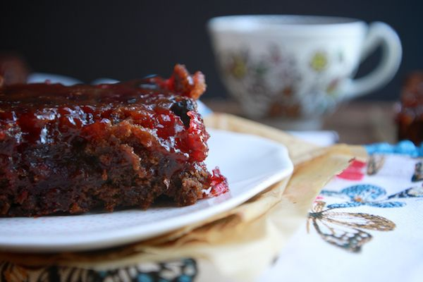 "sticky cranberry gingerbread ""Can you see why sticky is the first word ..."