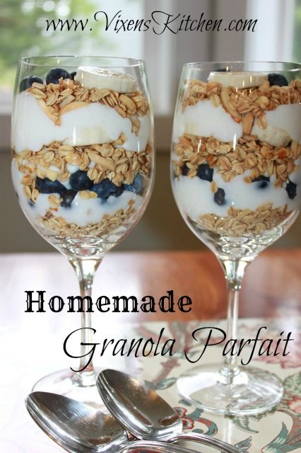 Vanilla Bean Yogurt Parfait with Homemade Granola - vixenskitchen.com ...