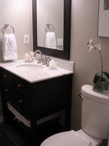 Revere pewter in bathroom