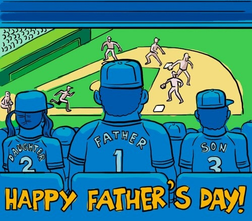 father's day baseball images