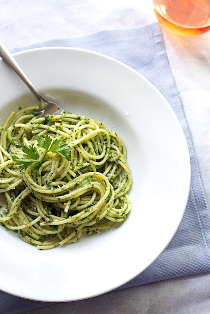 ... Appetits June Cook the Cover Challenge: Spaghetti with Parsley Pesto