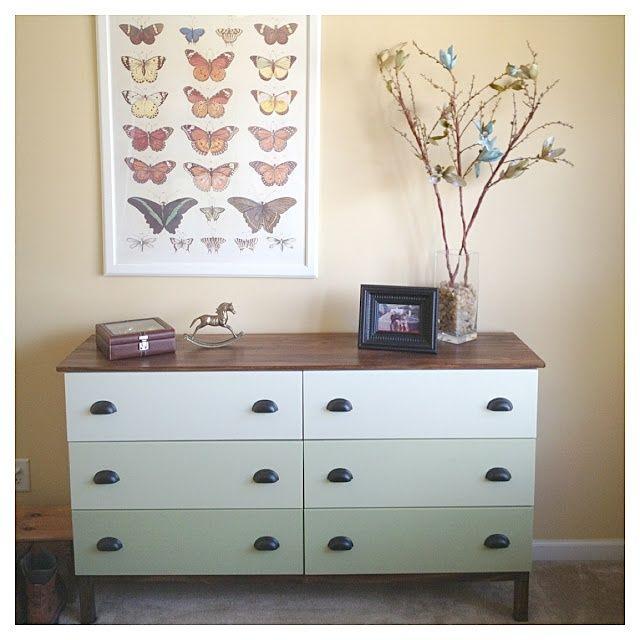 Ikea Diktad Wickelkommode Maße ~ tarva nightstand ikea hack  Hello! Upholstery + Blog Before & After