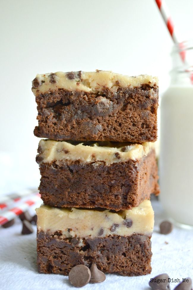 Fudge Brownies with Cookie Dough Frosting