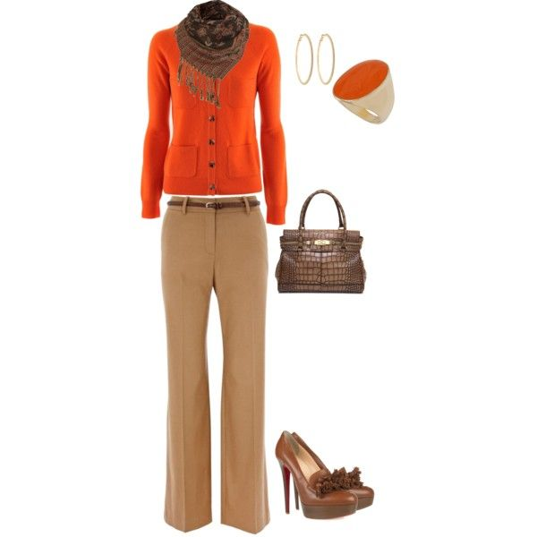 Orange and brown...love it.
