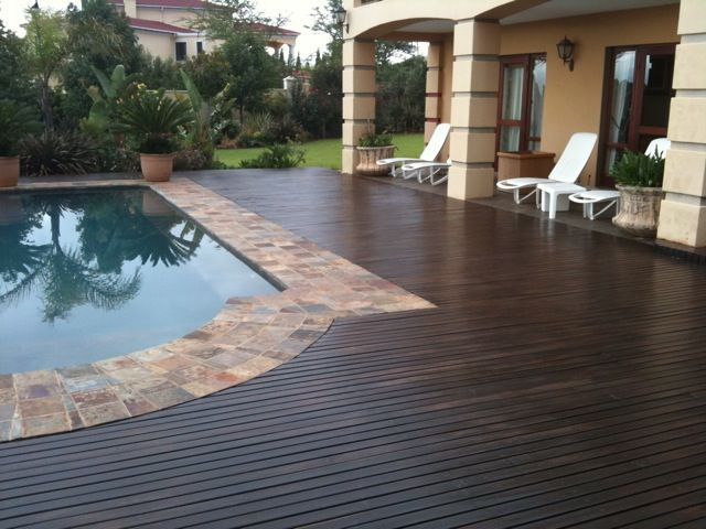 Wood and Stone Pool Deck
