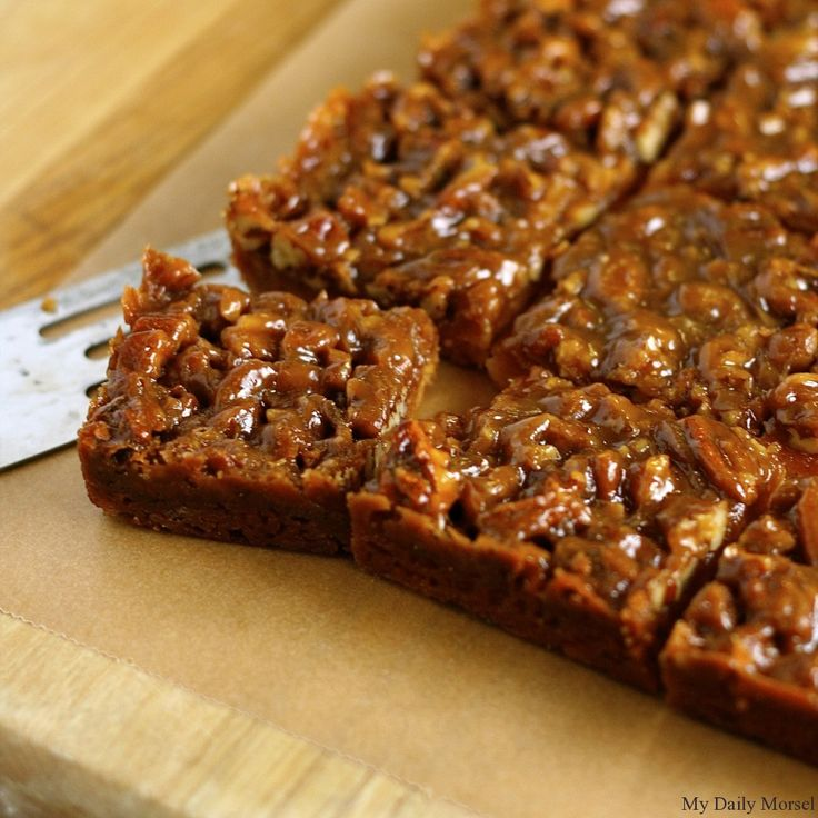 "Honey Pecan Shortbread Bars recipe - ""A sticky, chewy, sweet honey ..."