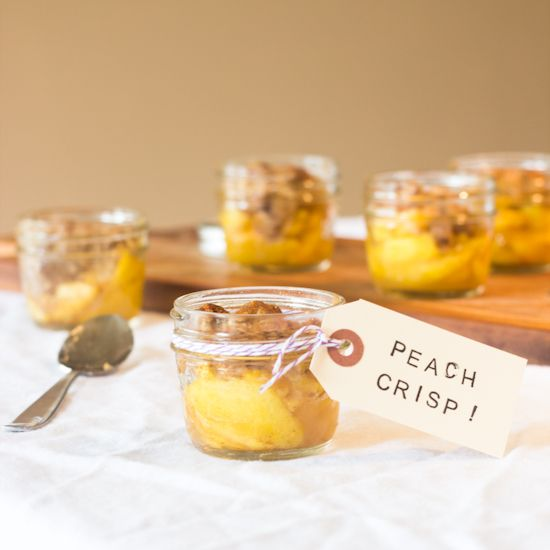 Gluten Free Individual Peach Crisp - perfect for parties!