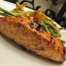 Firecracker Grilled Alaska Salmon These are salmon fillets in a tasty ...