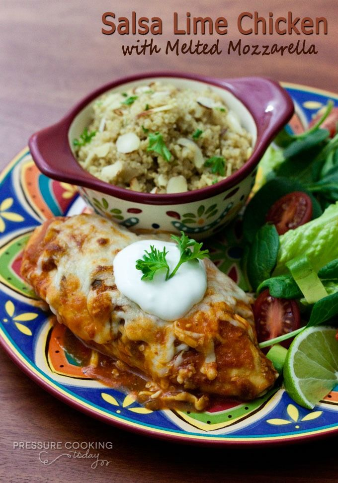 Salsa Lime Chicken with Melted Mozzarella | Recipe