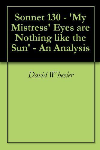 a description of the flaws of the mistress in the poem my mistress eyes are nothing like the sun by  The poem readsmy mistress' eyes are nothing my mistress' eyes are nothing like the sun my hunger love is about seeing your partners flaws but loving.