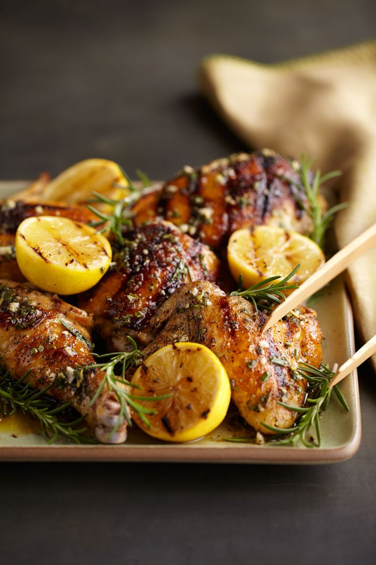 rosemary and lemon grilled chicken | Succulent & Savory | Pinterest
