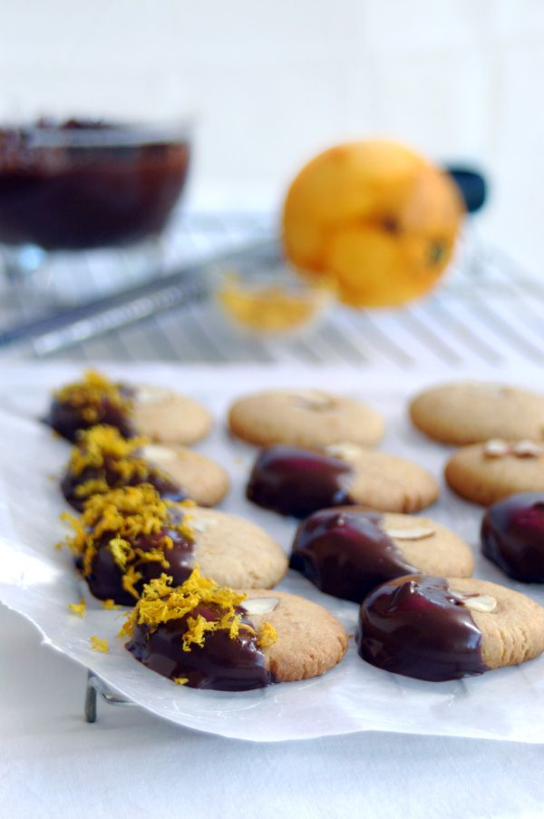 ... Almond Orange Shortbread Cookies - Jazzed Up With Chocolate and Orange