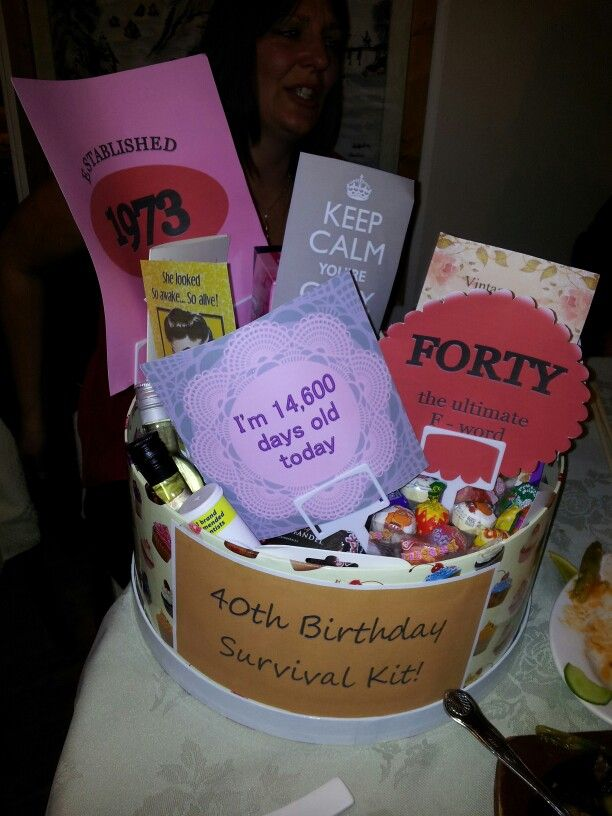 Jokey 40th birthday survival kit including wine, chocolates, sweets ...