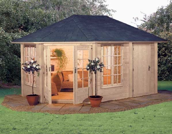Garden room tesco direct tiny houses pods cabins for Garden shed tesco