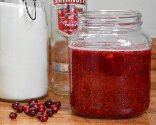 DIY Cranberry Liqueur