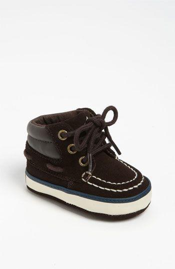 For a baby boy - so cute! Ralph Lauren Layette 'Sanders' Crib Shoe