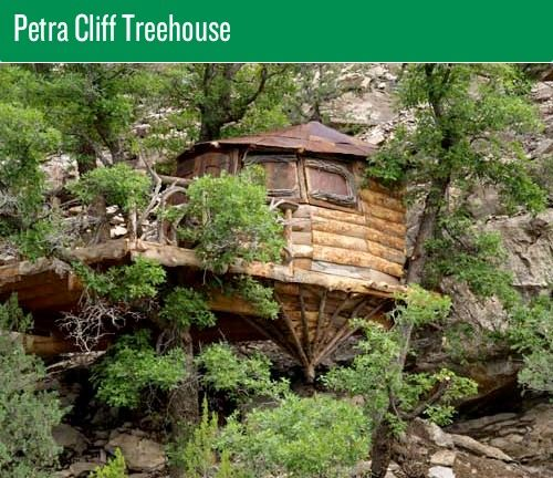The Petra Cliff tree house, located in New Mexico.