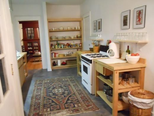 Photos From A Kitchen Without Traditional Cabinets Thought Not About
