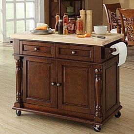 I want a new island decor pinterest - Big lots kitchen carts ...
