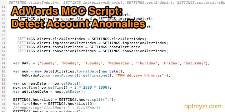 Adwords scripts for mcc how to detect account anomalies automatically
