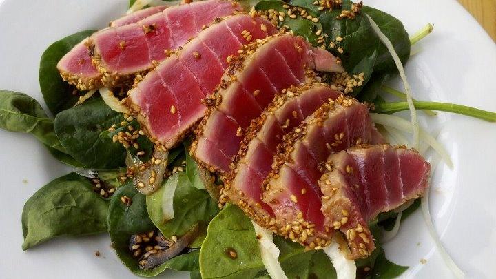 Seared Ahi Salad with an Asian Vinaigrette