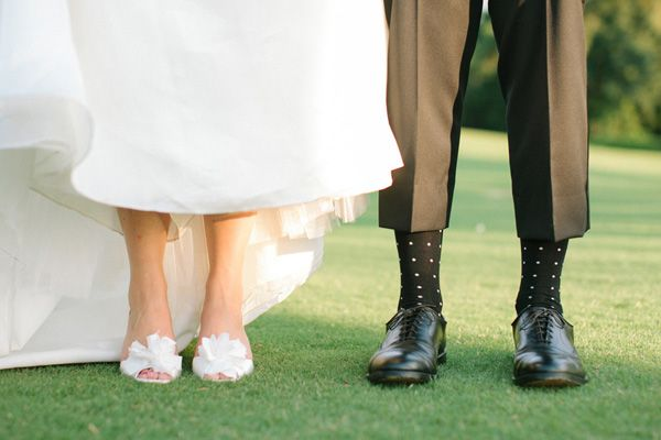 polka dots + poufs | Ashley Seawell #wedding
