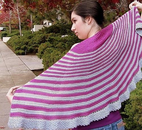 Crochet Pattern Half Circle Shawl : Amanda Half-circle Shawl pattern by Andrea Graciarena