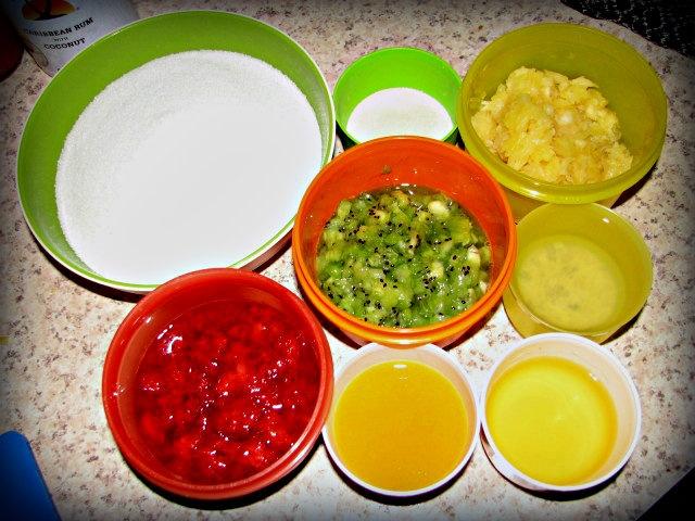 365 Days of Creative Canning: Day 21: Strawberry Kiwi Pina Colada Jam