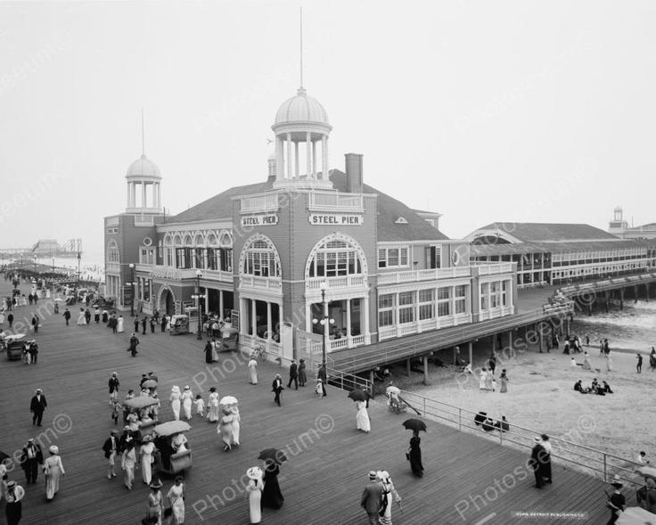 Steel Pier Building Atlantic City 1900 Love Pinterest