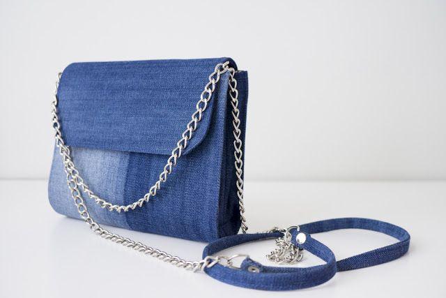 Джинсовая маленькая сумочка своими руками