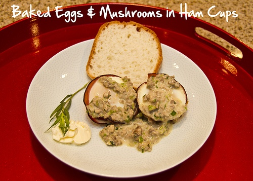 Baked Eggs and Mushrooms in Ham Cups | Food - Breakfast / Brunch | Pi ...