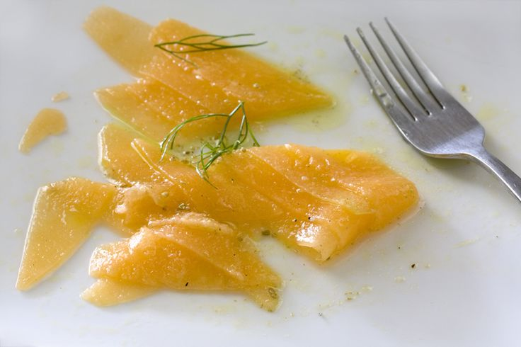 Cantaloupe Carpaccio with Aniseed and Lime