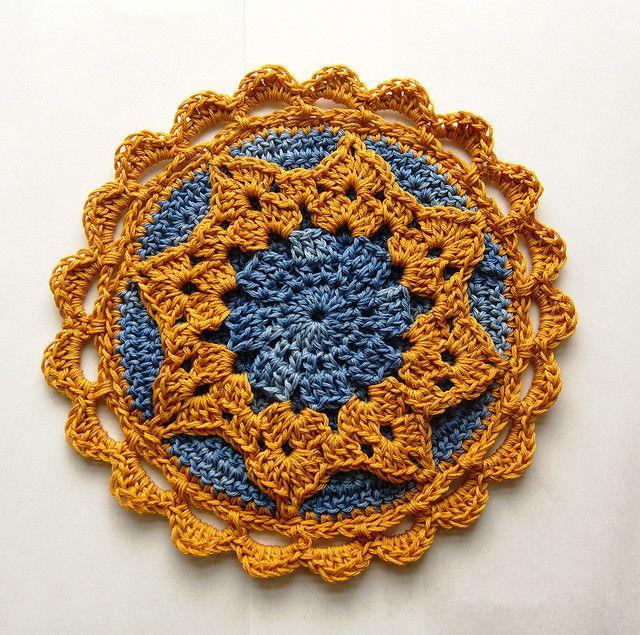 crochet potholder art/craft Pinterest