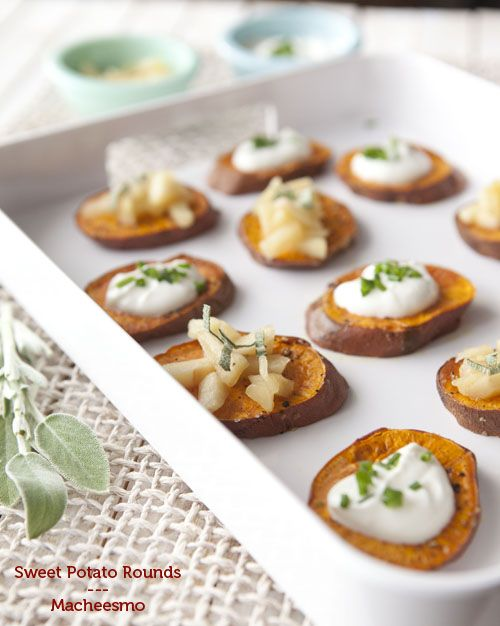 Sweet Potato Rounds - a healthy appetizer idea.
