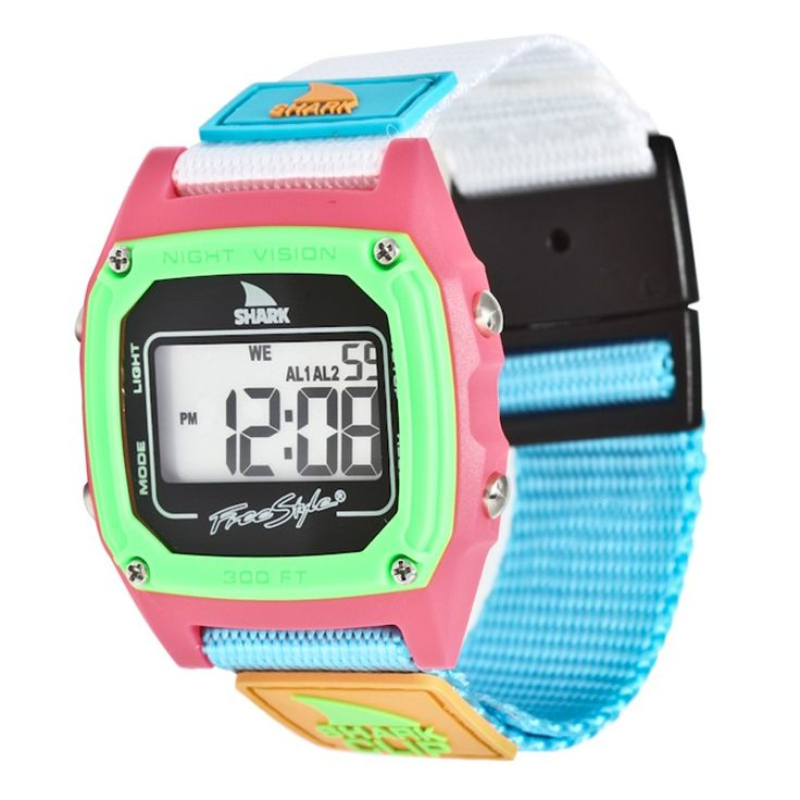 freestyle shark clip black neon watches