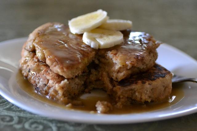 Whole Wheat Brown Sugar Banana Bread Pancakes via Warm Vanilla Sugar