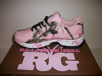 Womens Realtree Girl Pink Camo Mamba Shoes Size 7 Sneaker Hunting