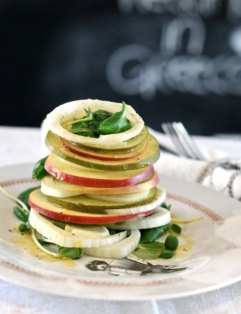 apple pear and fennel salad | Vegetarian Recipes | Pinterest