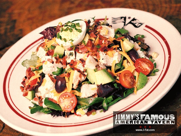 , Tomatoes, Bacon, Corn, Cheddar, Blue Cheese, Olives & Deviled Egg ...